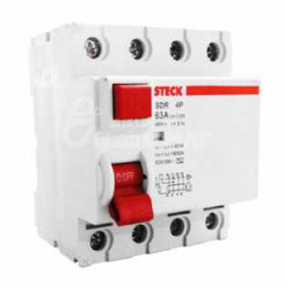 INTERRUPTOR DIFERENCIAL 4 POLOS 63A STECK