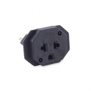 PINO ADAPTADOR 10A PRETO FORCE LINE